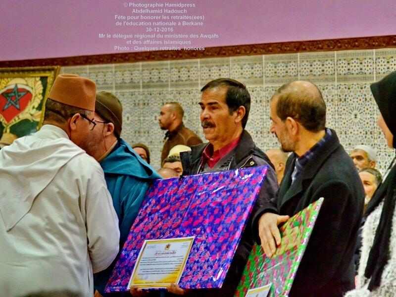 Fête pour honorer des retraités(ées) de l'éducation nationale à Berkane 30-12-2016 (31)