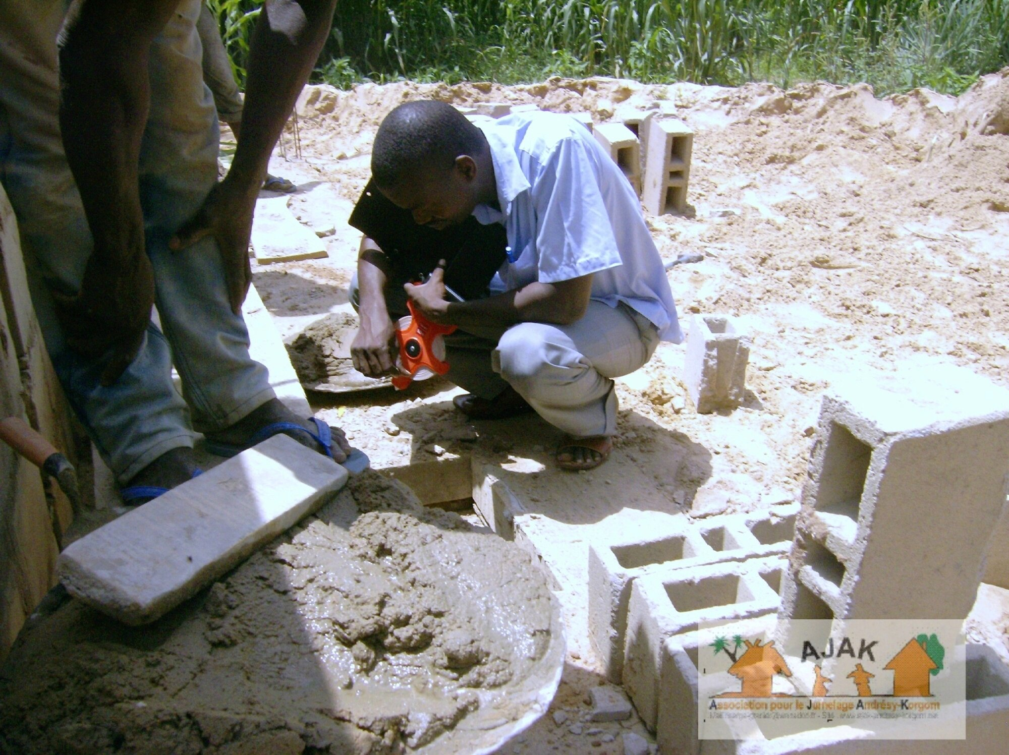 latrines CEG - construction intervenants 1