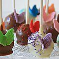 Cake pops papillon