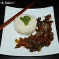 Wok de poulet au miel (5 pp) + riz
