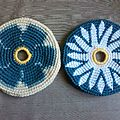 Frisbee fleurs bleues
