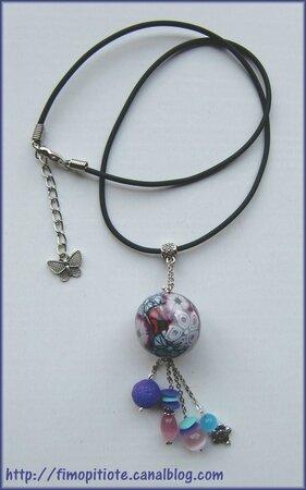 Bijoux pate fimo collier bracelet boucles d oreilles (22)