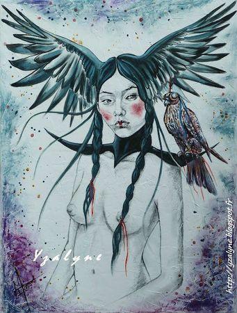 Soledad, techni mixte sur toile enduite, 60x80 cm - Copie
