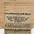 L'argus de la presse . 1909 .le peuple francais.