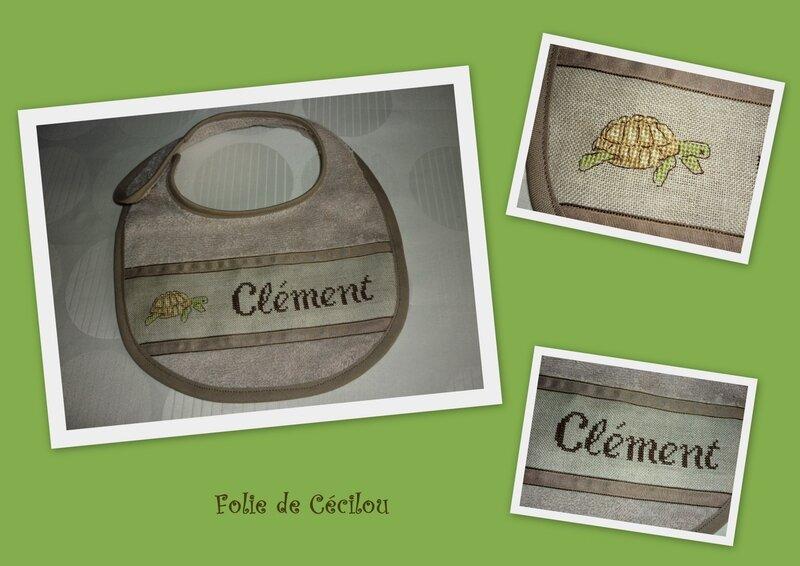 montage bavoir Clément