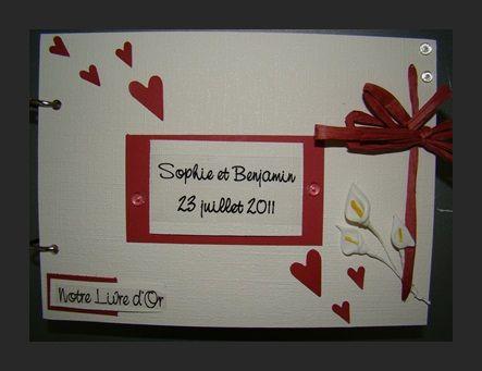 livre dor mariage sophie et benjamin - Livre Sur Le Mariage