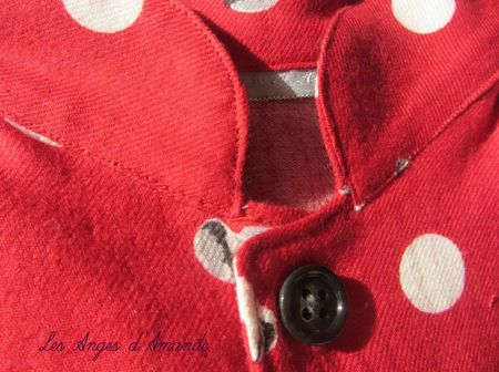 pyjama rouge col