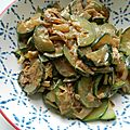 Courgettes au lait de coco § curry