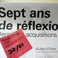 7 années d'acquisitions du musée d'orsay