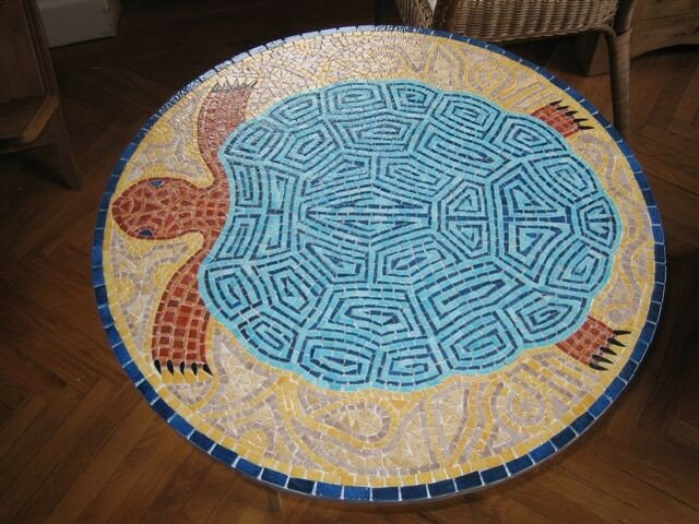 table mosaique tortue photo de tables florence olmi mosa que d 39 art cransac aveyron. Black Bedroom Furniture Sets. Home Design Ideas