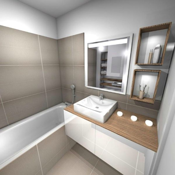 Am nagement salle de bain stinside architecture d 39 int rieur for Agencement salle de bain 6m2
