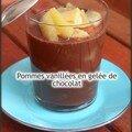 Pommes vanillées en gelée de chocolat