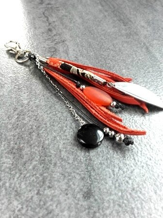 porte clefs orange noir pw