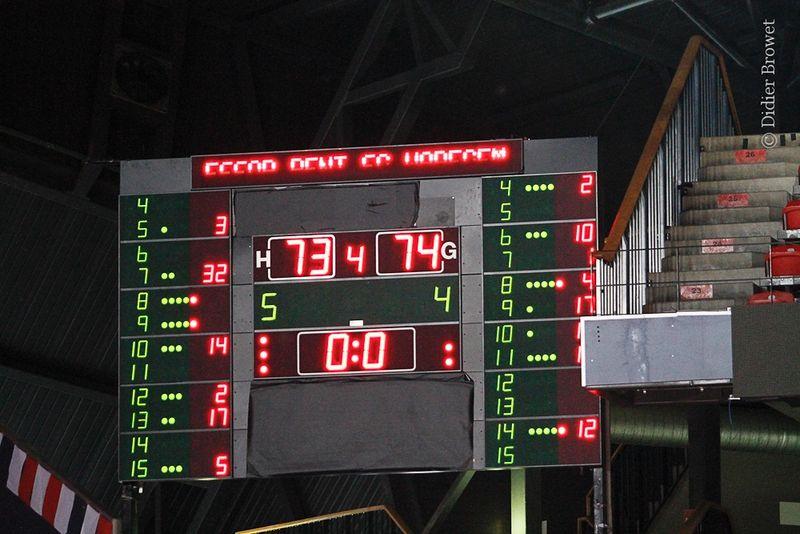 score board end