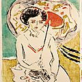 Exhibition of drawings and watercolors by ernst ludwig kirchner opens at galerie st. etienne