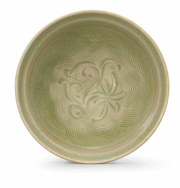 A carved Yaozhou celadon bowl, Northern Song-Jin dynasty, 11th-12th century