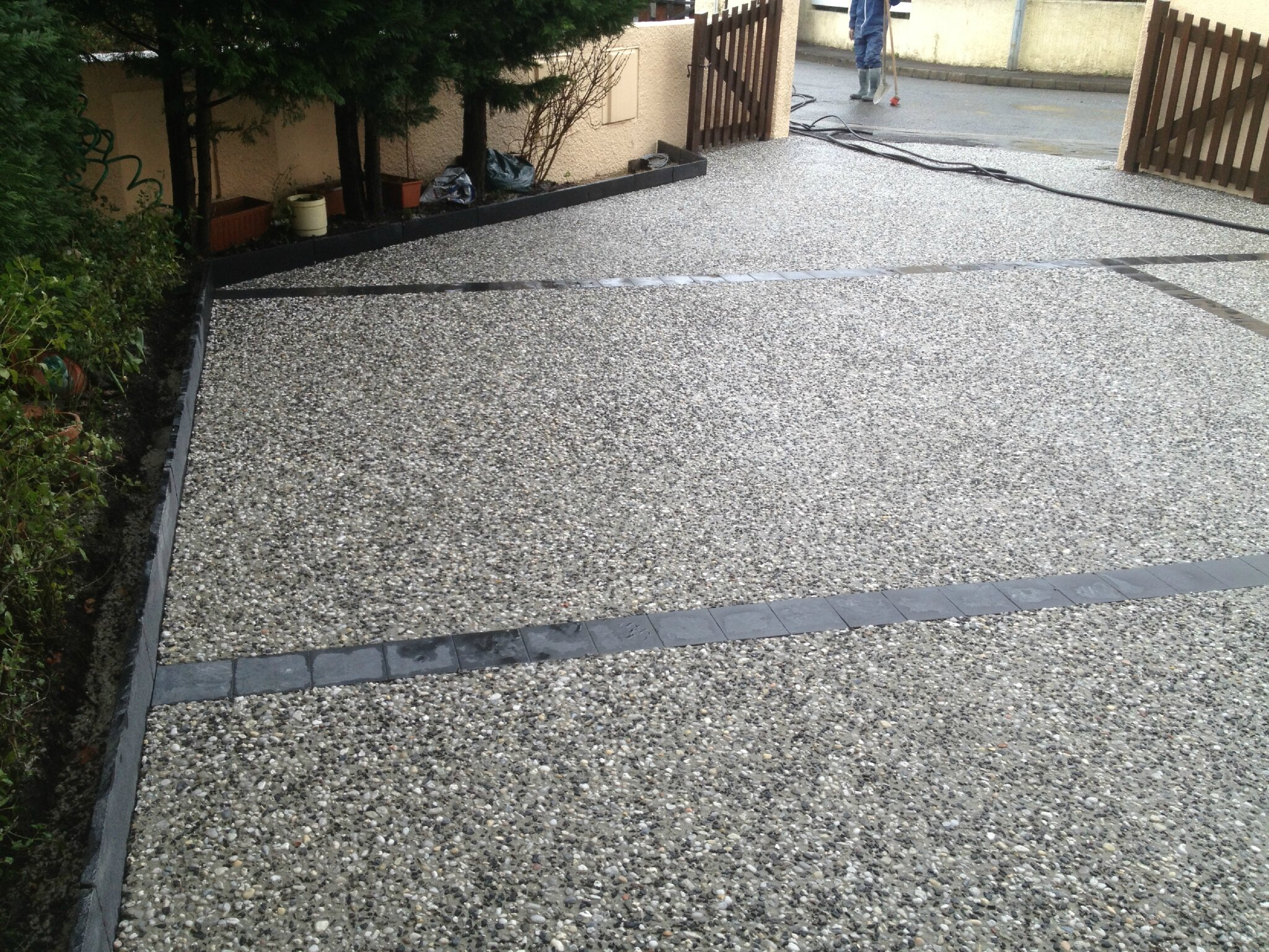 Satp m sallaberry amenagement cours terrasses chemins - Dosage beton pour terrasse ...