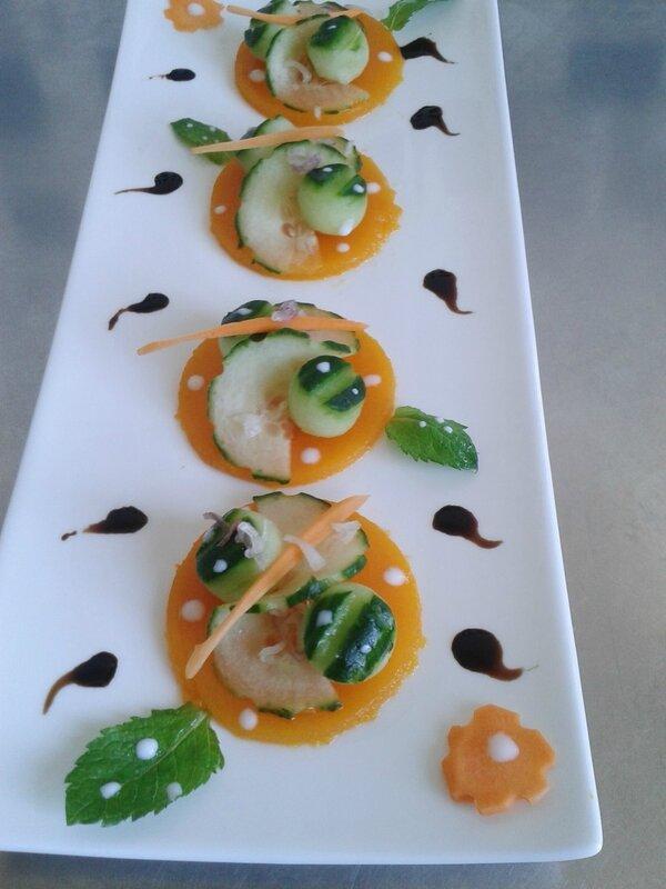 Salade de carotte-concombre ( du chef Custos)