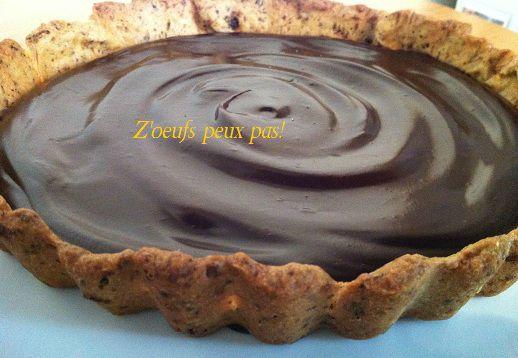 Tarte au chocolat avec pate brisee sans oeuf