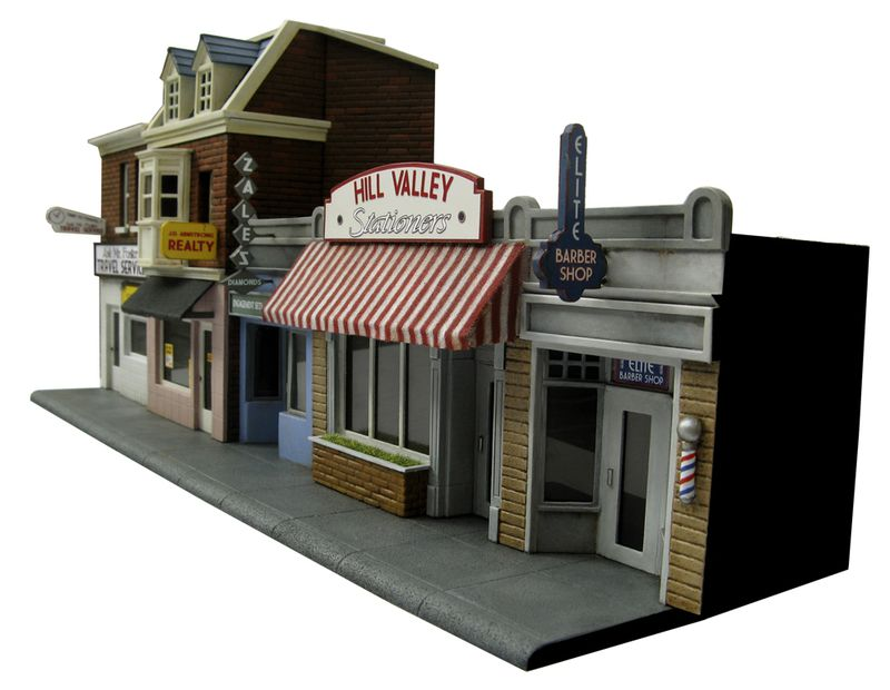 Hill Valley main street back to the future bttf heroclix remi bostal scenery miniature
