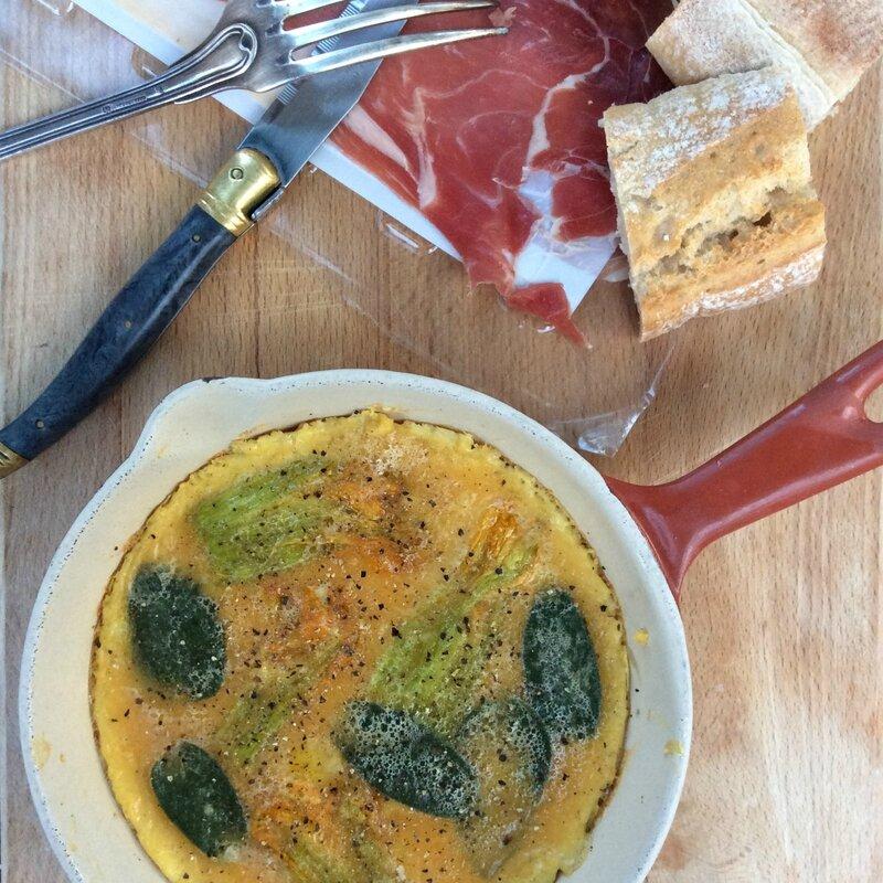 Omelette aux fleurs de courgette3