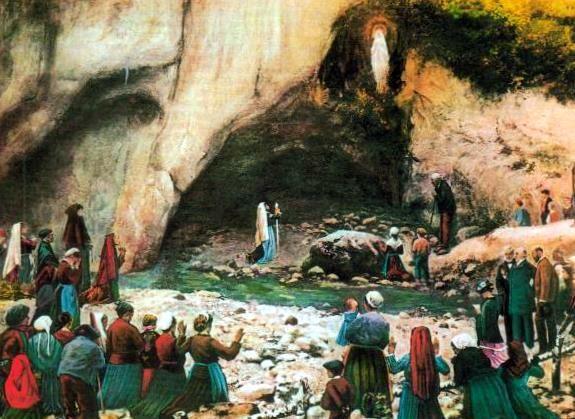 Lourdes, la grotte au temps de Bernadette
