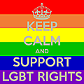 Keep calm and support lgbt rights