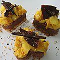 Coeur croustillant chocolat-fruits d'automne