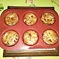 Muffins aux fraises, sans gluten, sans lait
