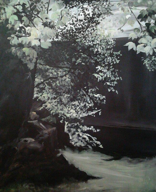 Linda Roux, Le Gouffre de l'Enfer, acrylique sur toile, 170 x 140 cm, 2011