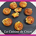 Minis muffins chorizo et morbier