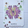 Diy project life card: little sunshines calendar march