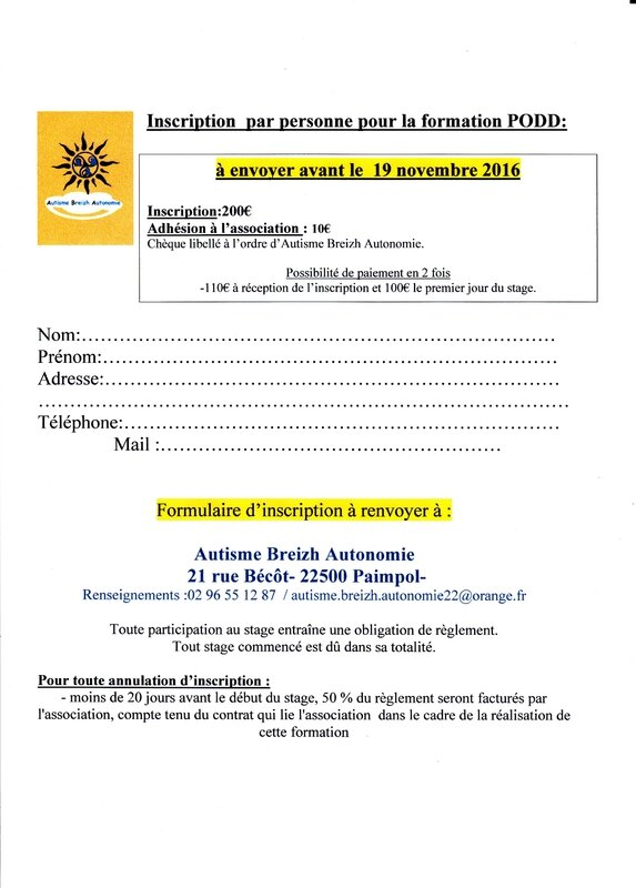 Inscription PODD nov 2016