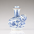 A blue kraak kendi, ming period, wanli reign (1572-1620)