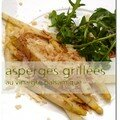 Asperges grilles au vinaigre balsamique