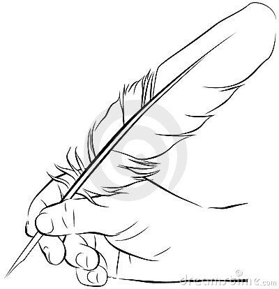hand_writing_feather_pen_14463759