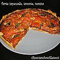 Tarte tapenade, tomate, mozza