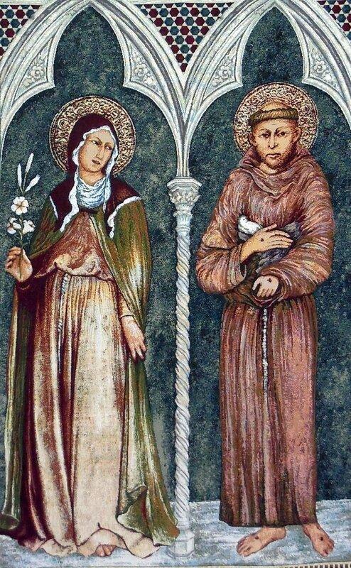 San Francesco e Santa Chiara 70x110