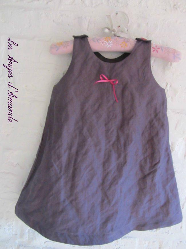 robe trapèze aubergine 3