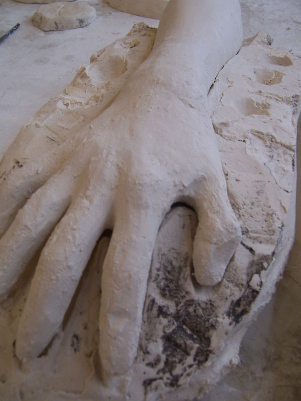 how to make a plaster mold of my hand