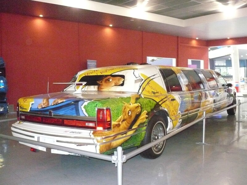 LINCOLN Town Car Stretch Limousine aérographe Camel par Janny's Art 1993 Speyer (2)