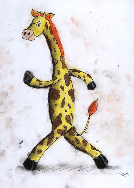 GIrafe amble