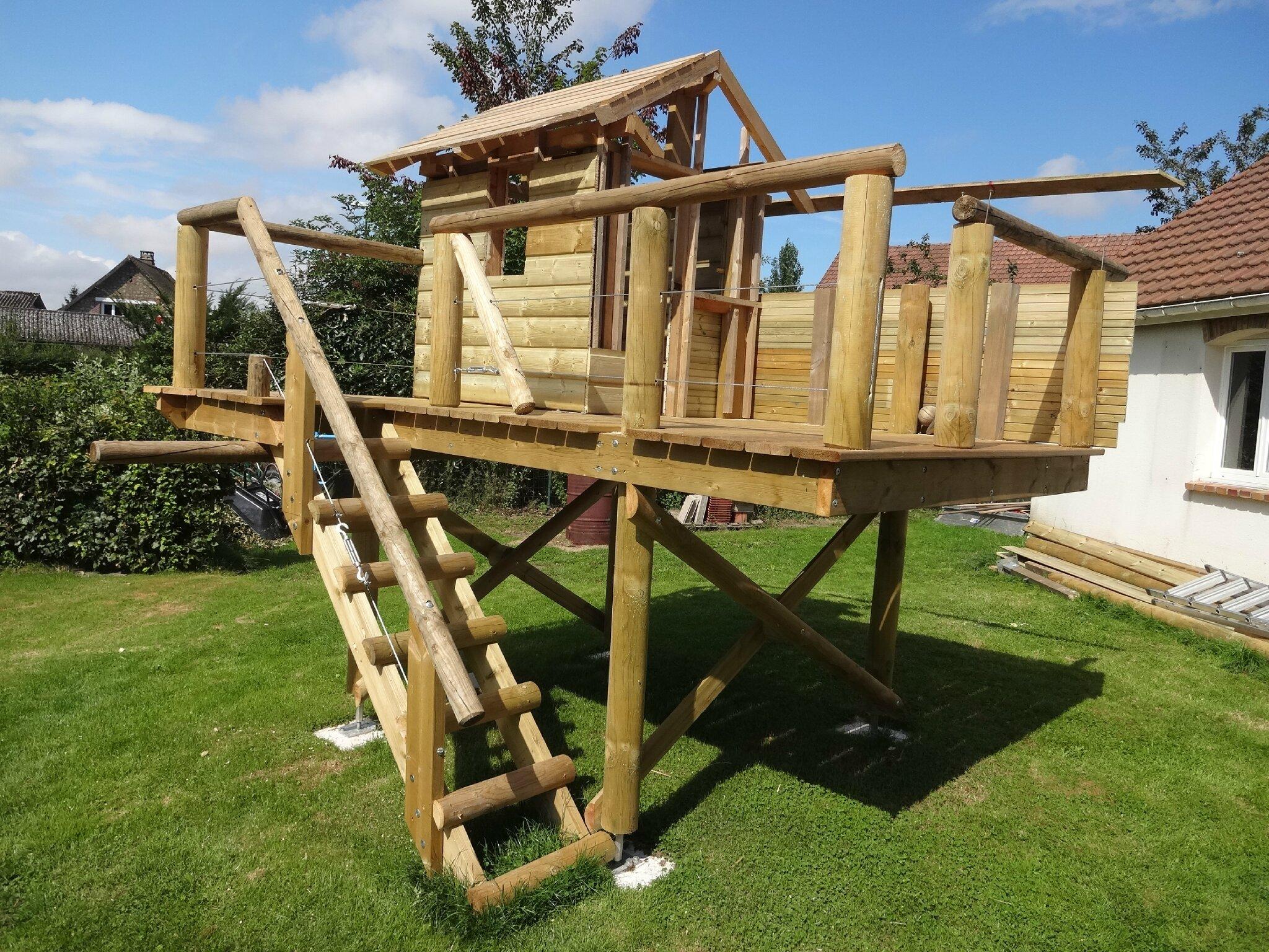 Construction Cabane Enfant destiné esteville (76) -travaux divers- construction d'une cabane d'enfants