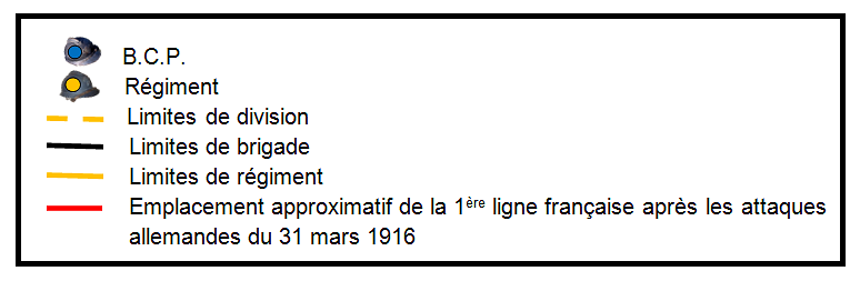 Legende_carte_3_journee_du_31_mars_1916