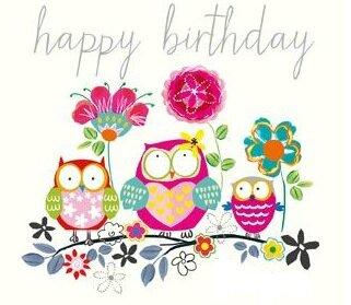 hibou happy birthday