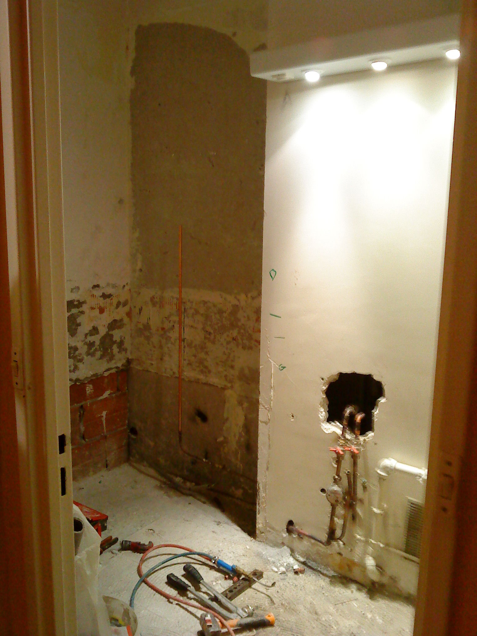 Pendant travaux salle de bain photo de salle de bain - Travaux de salle de bain ...