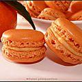 Macarons à la pulpe de clémentine et chocolat blanc