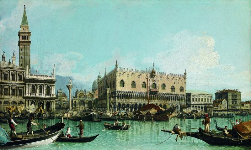 "Giovanni Antonio Canal, called ""Canaletto"" (Italian, 1697-1768), The Pier of Venice Next to St"