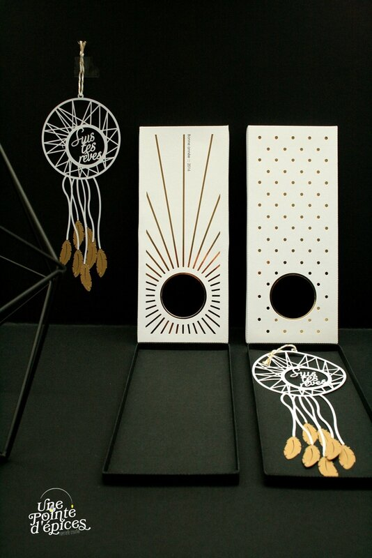 dreamcatcher papercut card
