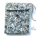 Pochette portable Liberty bleu chimey 2